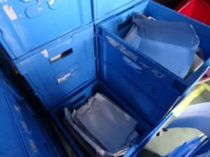 宅配で回収された紙パック