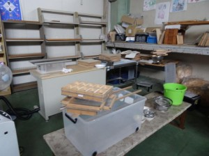 紙漉きに使用する道具類