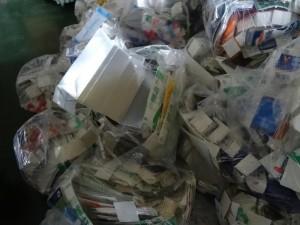 回収し一時保管している紙パック